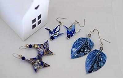 Ensemble de bijoux Origami - Grue origami - Etoile shuriken - Feuille Origami - Bijoux pour Femmes ou Filles