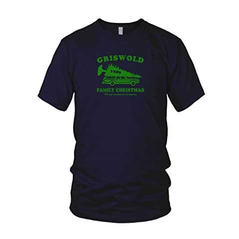 Planet Nerd - Griswold Family Christmas - Herren T-Shirt, Größe L, dunkelblau (Weihnachts-national Lampoon)
