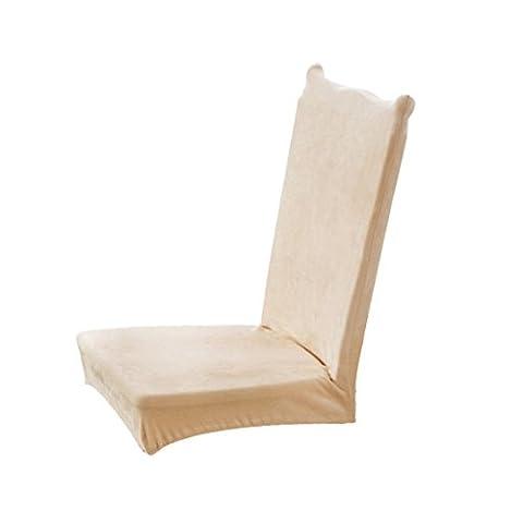 Vovotrade Siamese Beläge dicker Plüsch elastischen Volumenmodellen Esszimmer Stühle Covered Hochzeitsfeier Bankett Hotel Seat Stuhl Abdeckung (Beige)