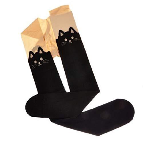 Newin Star 1 Par Mujeres Lindo sobre la Rodilla Calcetines de algodón de Dibujos Animados Animales Gato de Oso Calcetines Medias hasta el Muslo Medias 3D patrón Lindo Gato de la Historieta del mu