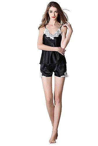 NEIYI Logrliy Damen Hochwertige Sommer-Pyjama-Sets Tops + Kurze Hosen Zwei Stücke Pyjama-Sets Nachtwäsche Großhandel, M -
