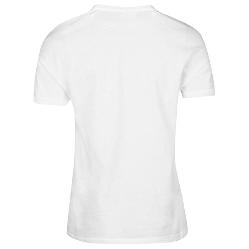 Noisy May Femmes Kato T-Shirt Col Rond Tee Top Haut Col Rond Manche Courte Blanc Argent