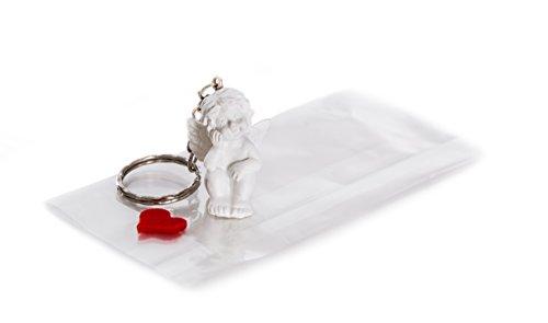 25 angioletti confezionati singolarmente con cuore; angelo custode come regalo per gli ospiti, i clienti o come ricordino per matrimoni, comunioni, battesimi o compleanni; esclusiva decorazione da tavola come portachiavi.
