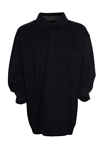 Kitaro Polo Poloshirt Polosweat Herren Kurzarm Übergröße Plusgröße Dunkelblau