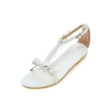 LvYuan Da donna-Sandali-Tempo libero Formale Casual-Altro-Piatto-PU (Poliuretano)-Rosa Bianco Argento Dorato White