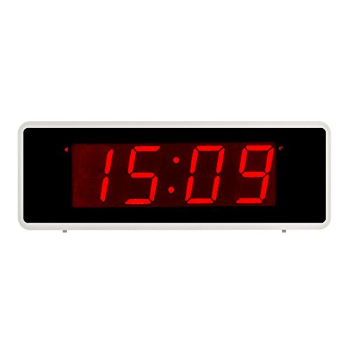 Kwanwa Portátil Pantalla Alarma Reloj Números Grandes