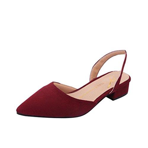OYSOHE Damen Schuhe, Frauen Pumpen Knöchelriemen Starke Ferse Spitzschuh Mittlere Fersen Bequeme Schuhe - Funky High Heel-schuhe