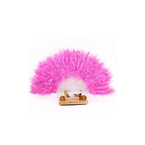 Dance Kostüm Burlesque Style - Tummop Fashion Feather Folding Fan Hand gehalten Peacock Screen Style Dance Props Elegante Feather Wedding Party Dekor östliche Kultur Fans Geschenke
