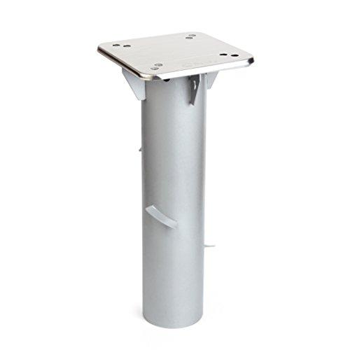 Sekey Metall Universal-Bodenplatte/Sonnenschirmständer für Sonnenschirm/Ampelschirm/Kurbelschirm, Silber