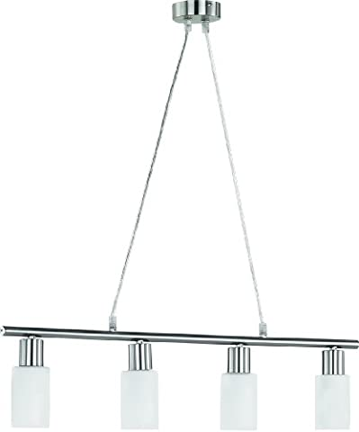 LED Pendelleuchte 4x4W hell kürzbar Neptun 2700k 70cm nickel matt / Glas opalfarbig weiß