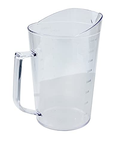 Crestware PMC1Q Poly Measuring Cup, 1 quart, Clear by
