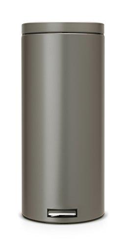 Treteimer 30 L Classic mit Kunststoffeinsatz / Platinum