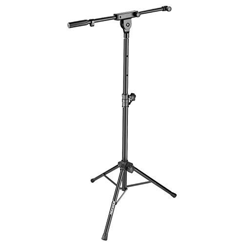 Neewer 2-in-1 Mikrofon-Lautsprecherständer mit ausziehbarem Auslegerarm- 1.3 Meter einstellbare Höhe und Aluminiumlegierung für Zuhause Studio Bühne Rundfunk (nur für Neewer NW-PSM05R Lautsprecher)