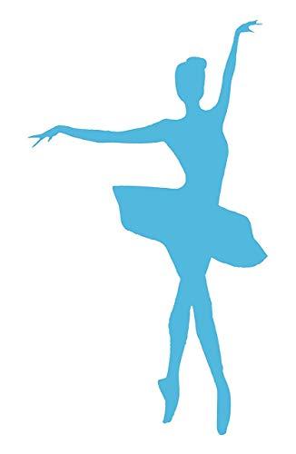 EmmiJules Wandtattoo Ballerina Tämzerin leuchtend - verschiedene Motive - Kinderzimmer Leuchtsticker Lichtschalter Wandaufkleber Wandsticker Nacht Baby Schlafzimmer nachtleuchtend (Ballerina)
