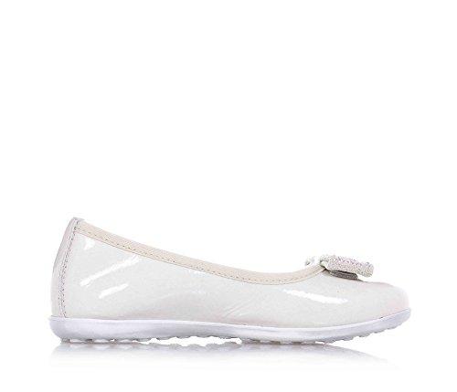 CIAO BIMBI - Weiße Ballerina aus Lackleder, zeigt die Liebe zum Detail und verbindet Stil, Mädchen-25 (Ballet Liebe Flat)
