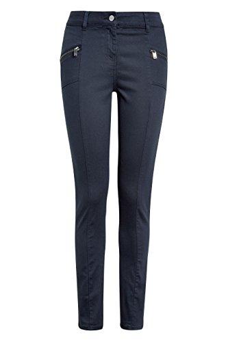 next Donna Pantaloni Skinny Con Zip Blu Navy