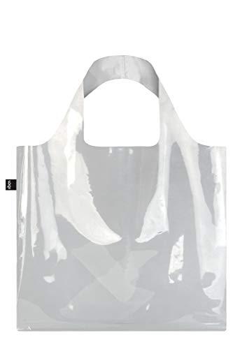 LOQI TRANSPARENT Einkaufs- Reise-Henkeltasche, Transparent
