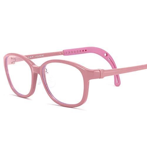 Kids Blue Light Blocking Brille, TR90 Runde Anti-UV-Ermüdung der Augen Computerbrillen, verstellbare Tempel Unisex (Junge/Mädchen)-2