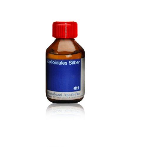 Kolloidales Silber 10ppm, 100 % natürliches, kolloidales Silberwasser, ohne chemische Zusatzstoffe aus Apotheken-Herstellung, Inhalt: 100 ml