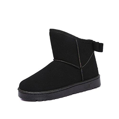 Arco coreano inverno neve stivali/Stivaletti/ studente tubo corto stivali invernali/Stivali invernali/ spesso stivali caldi-B Lunghezza piede=22.8CM(9Inch)