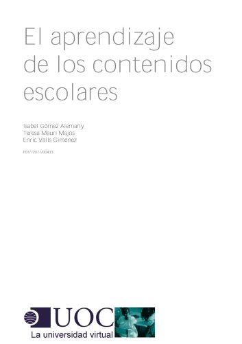 El aprendizaje de los contenidos escolares de [Valls Jiménez, Enric, Gómez Alemany,