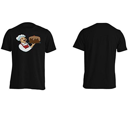 Chef Buon Appetito Torta Divertente Novità Uomo T-shirt rr21m Black