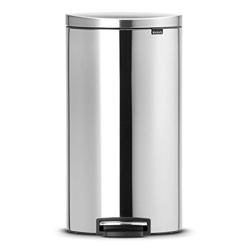 Brabantia Pedal Bin, for Paper, Plastic/ Stainless Steel, 30l, 482007 by Brabantia -