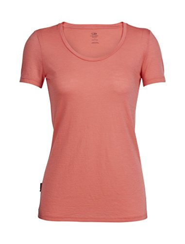 Icebreaker Tech Lite Scoop_102143 T-Shirt Manches Courtes Femme, Tulipe, FR : S (Taille Fabricant : S)