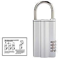 WENDYRAY Passwort-Vorhängeschlüssel Aufbewahrungstaste Safe-Box Mit 4-Stelligem Rücksetzbaren Hochleistungs-Kombinationsschloss Für Fitnessstudio Und Schulschließfach