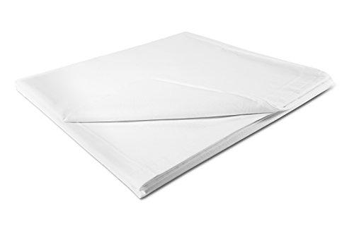"""ZOLLNER® hochwertiges Betttuch / Bettlaken weiß ohne Gummizug 240x290 cm aus 100% Baumwolle, in weiteren Größen verfügbar, direkt vom Hotelwäschehersteller, Serie """"Maxi"""""""