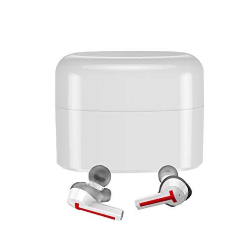 Ohrhorer kabellos,Mini Bluetooth Ohrhörer mit Stereo Ohrhörer Ladekasten (rot)