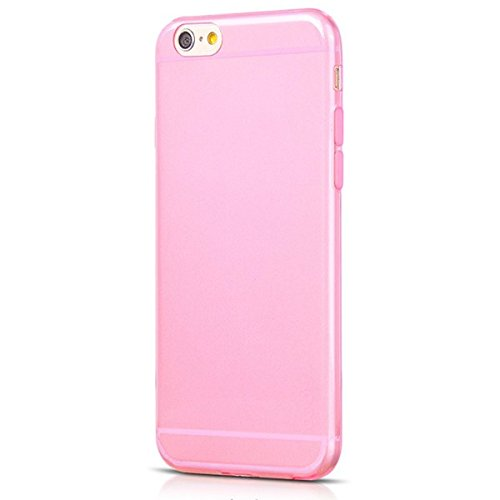 Ricco Coque de protection en gel silicone pour Apple iPhone 6, Gel - Transparent, L Clear Gel Pink