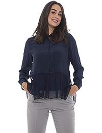 056c43180d00b Emporio Armani Blouse Woman in Silk Ruffles 6Z2C67 2NQXZ