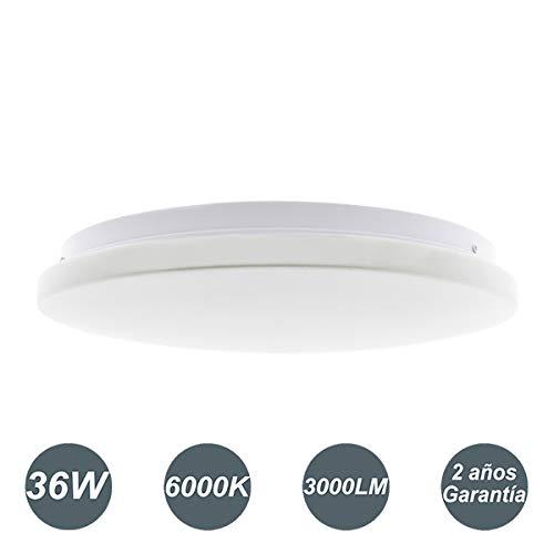 LED Lámpara de Techo 36W Interior Plafón Moderna LED de Techo Redonda Ultra fina IP 20 170-265V AC...