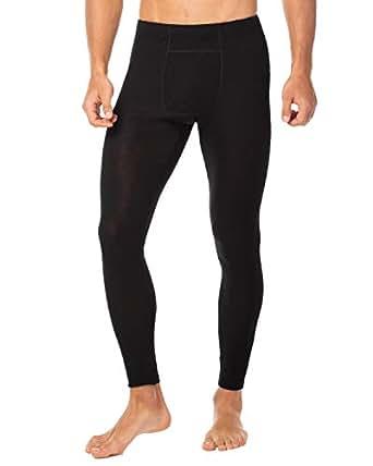 LAPASA Men's - 100% Merino Wool - Thermal Bottoms (S, Black)