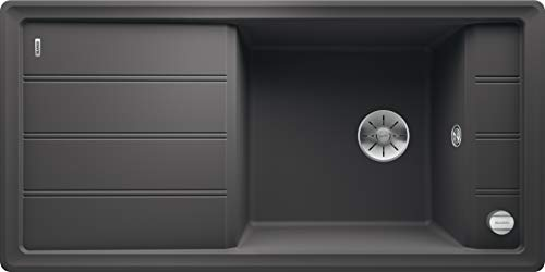 Blanco 524784 Faron XL 6 S Küchenspüle, felsgrau, 60 cm Unterschrank