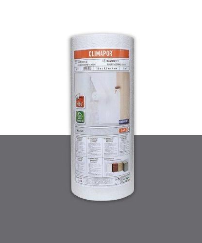 Climapor Dämmtapete rauhfaserkaschiert, weiß, 10 x 0,5 m x ~ 4 mm, 2 Rollen (= 10 qm)