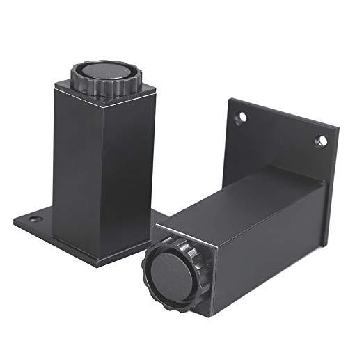 AZXC 4 × Metall MöBel StüTzfüßE, Verstellbare Rechteckige Couchtisch Beine Beine Sofa Beine Aluminiumlegierung Kabinett FüßE (Senden Schrauben, 6-40cm) -
