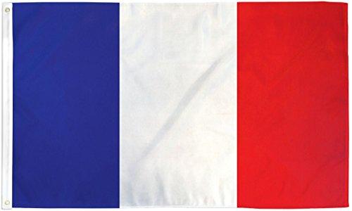 FlagsImp Le Monde Drapeau National 3x5 Ft France Flag