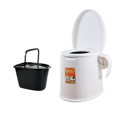 MyAou-commode Portable Camp Toilette Portable Toilette Voyage Camping Randonnée Pique-Nique Festival en Plein Air (Couleur : Blanc)