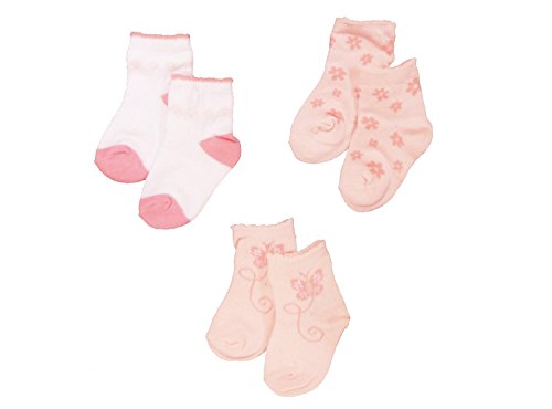 baby-girls-cute-socks-3-pairs-pink-butterfly-flowers-design-newborn-uk-size-0-0