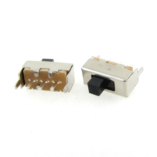 20 PCS 3 Pin 2 Position 1P2T SPDT Panel PCB Mini Vertical Slide Switch - Slide Licht Dimmer