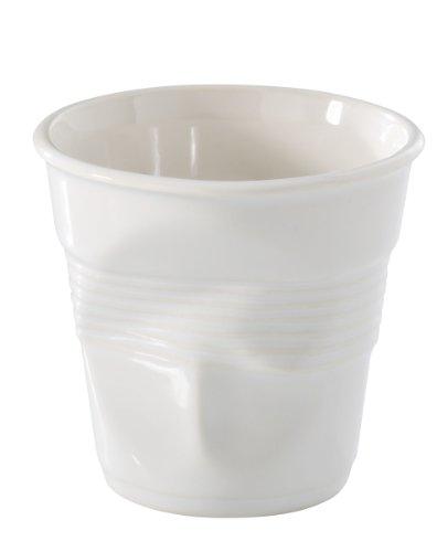 Revol RV616096 Tasse espresso froissé porcelaine, blanc, 6.5 x 6.5 x 6 cm