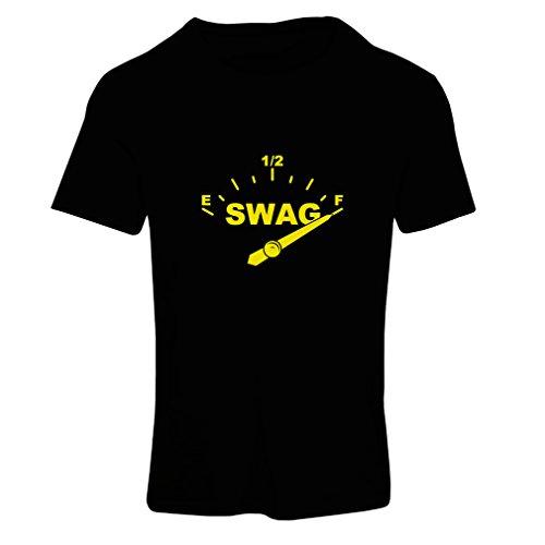 lepni.me Frauen T-Shirt Swag-Stil modern, modischer Hipster, Urbane Kleidung (XX-Large Schwarz Gelb) -