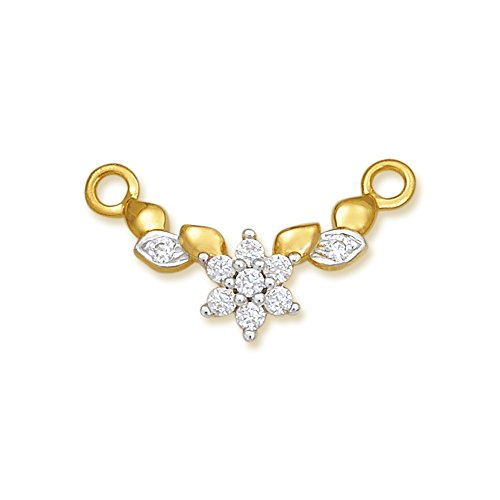 Nishtaa Contemporary 22K Yellow Gold Tanmaniya Pendant