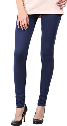 Snowdrop Women's Cotton Leggings (SDLG010_Navy_Xx-Large)