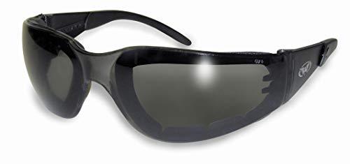 Global Vision Gepolsterte Motorrad-Sonnenbrille/ umlaufende Motorradfahrerbrille mit Gratis-Mikrofaserbeutel