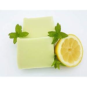 Minze Zitrone Seife, Duschseife, vegan, ohne Palmöl, handgemachte Naturseife von kleine Auszeit Manufaktur