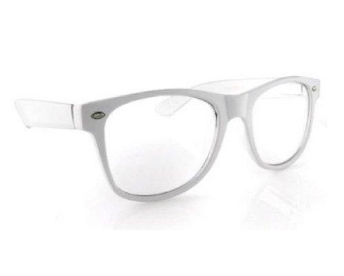 4sold (TM) New (Unisex Herren Damen) weiß Brille Sonnenbrille mit transparent Objektive