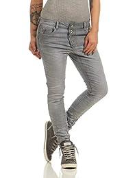 42d05d4dc8cbab Fashion4Young 11407 LEXXURY Damen Jeans Röhrenjeans Hose Boyfriend Baggy  Haremscut Damenjeans